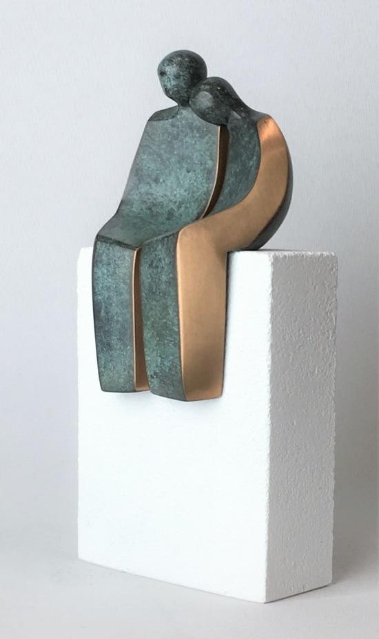 DRØMMEPARRET - ægte bronze