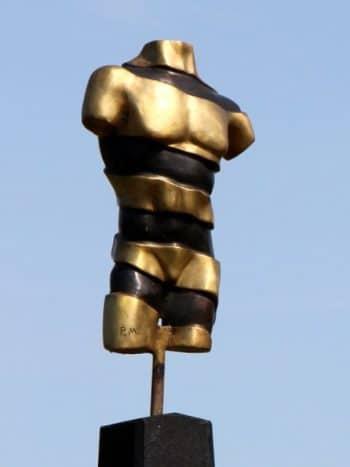TURNING TORSO II - ægte bronze