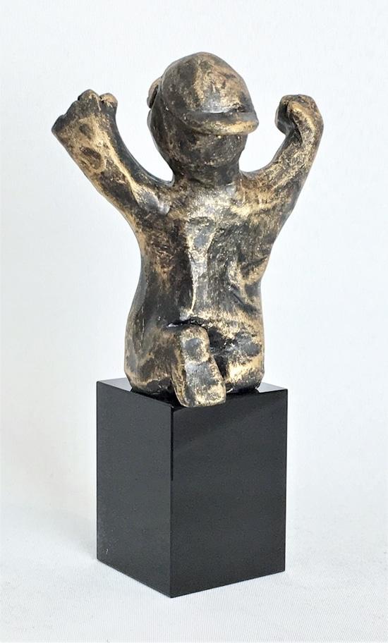 DEN ENERGISKE - bronze patineret