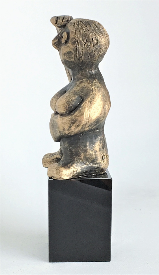 DEN FREMSYNEDE - bronze patineret