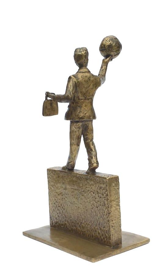 Hele verden venter - ægte bronze