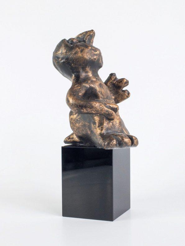 DEN MUSIKALSKE - bronze patineret