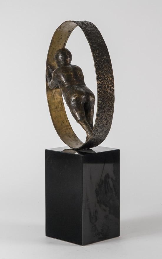HOLDE HJULENE I GANG - ægte bronze