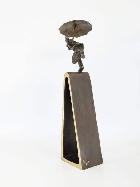 ET MÅL ER NÅET - ægte bronze