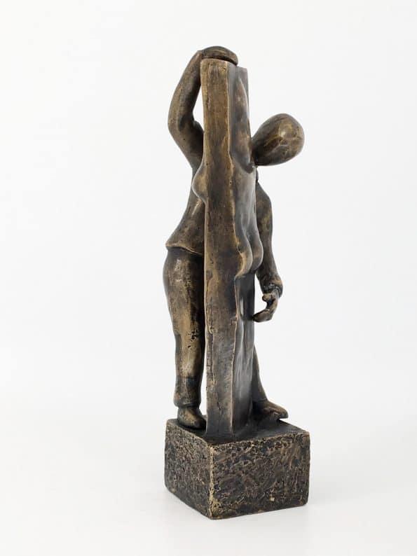SE SAGEN FRA TO SIDER - ægte bronze