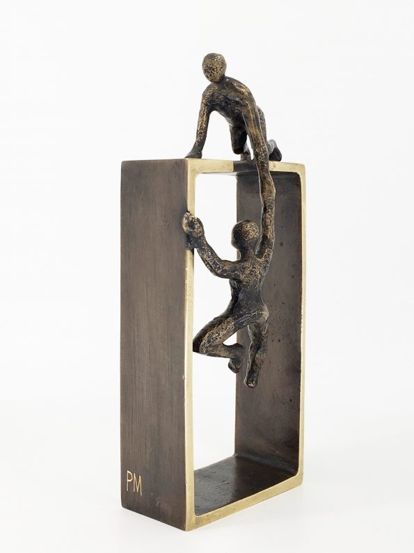 HJÆLPSOMHED - ægte bronze