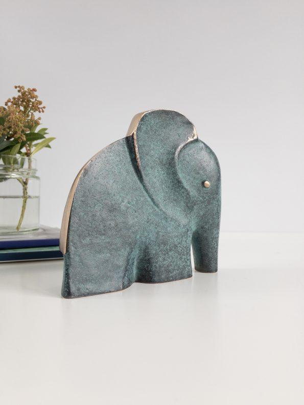 ELEFANTEN - STYRKE OG VISDOM - ægte bronze