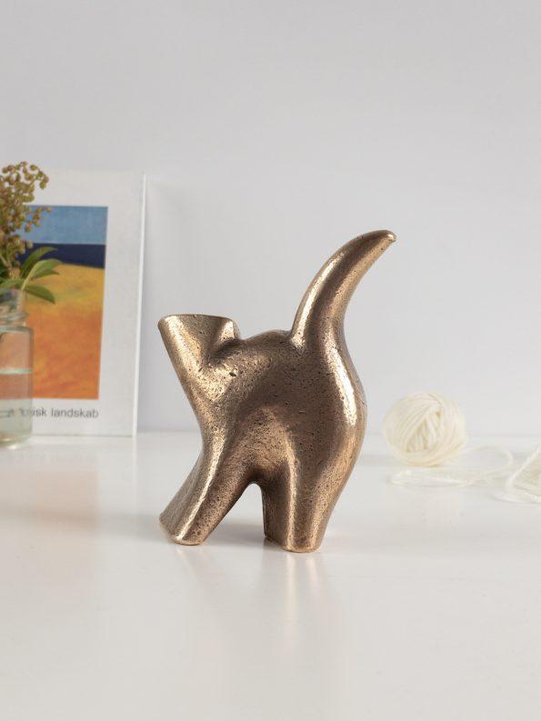 KAT - SELVSTÆNDIGHED - ægte bronze