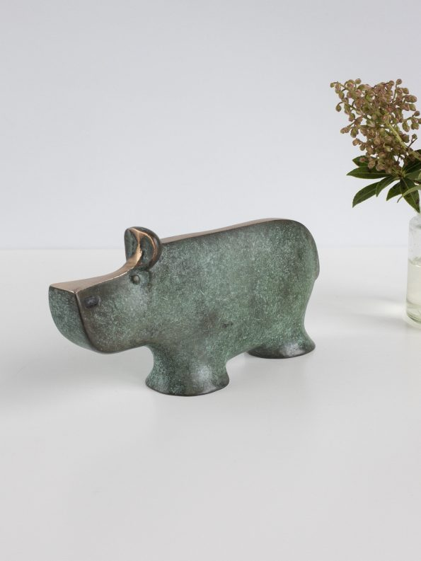 FLODHEST - ægte bronze