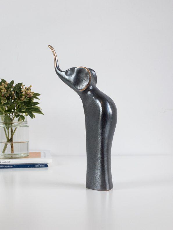 ELEFANT - mørk patina - ægte bronze