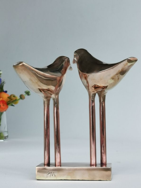 LOVE BIRDS - ægte bronze