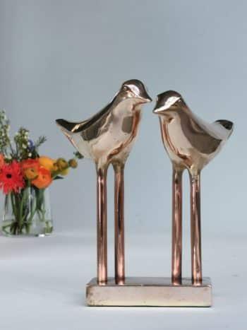 LOVE BIRDS - ægte bronze