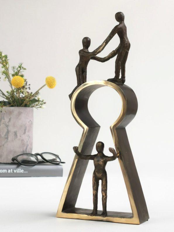 NØGLEN TIL SUCCES - ægte bronze