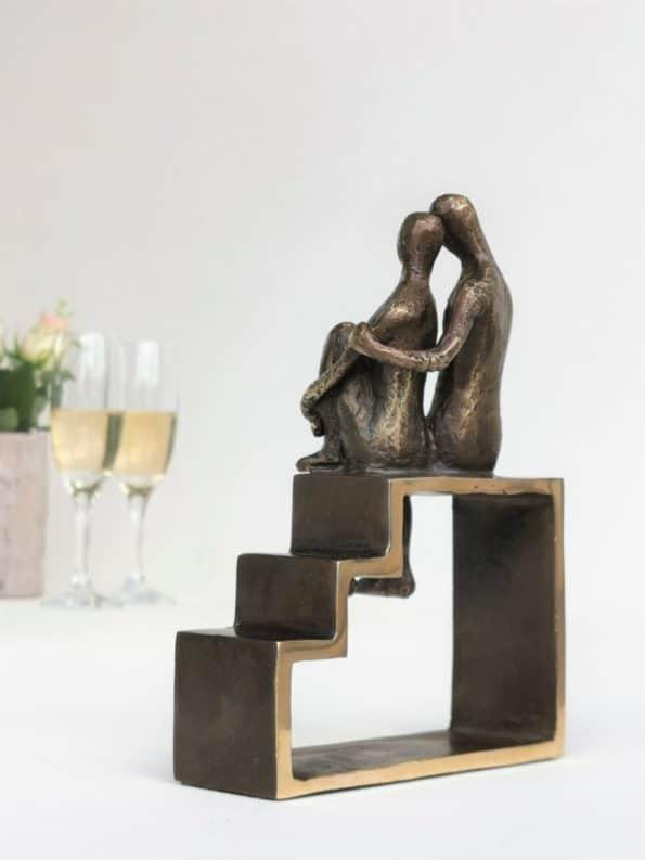 SIDE BY SIDE - ægte bronze