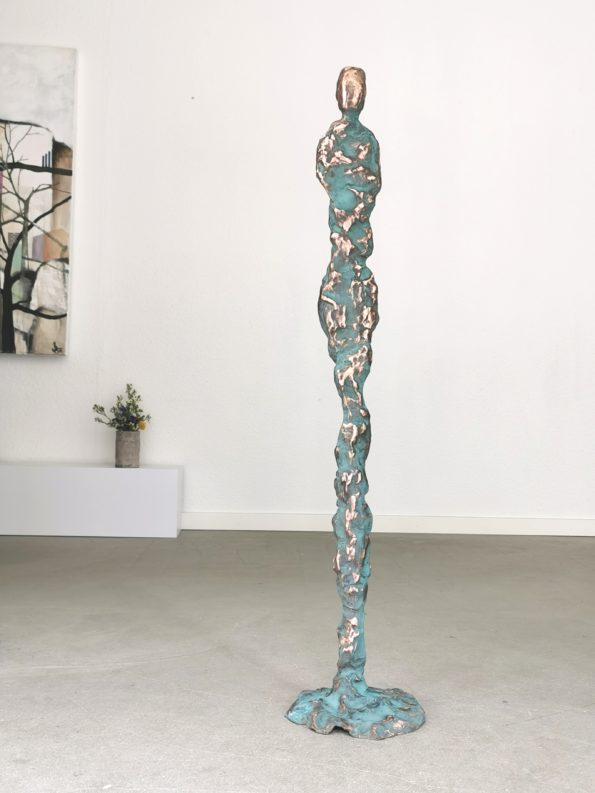 GEJSERKVINDE - ægte bronze