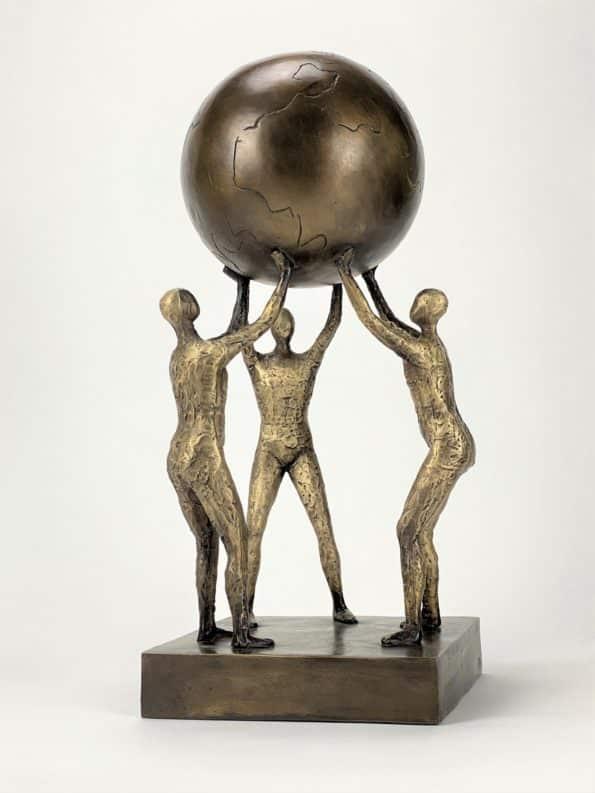 Løfter i flok - ægte bronze